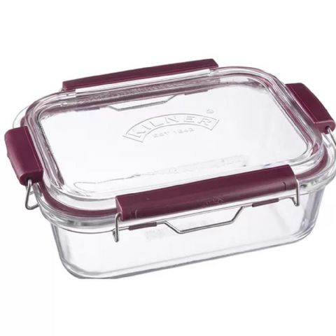 Kilner 1.4L Glass Clip Top Fridge Food Storage Box & Oven Dish